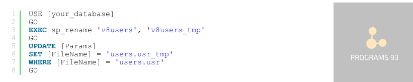 Сброс пароля 1С 8.3 / 8.2 с базой под SQL Server. Пошаговая инструкция.